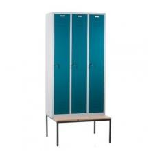 3 door locker with bench 900x810x2090
