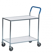 Shelf trolley, galv/white 850x435x950mm, 150kg
