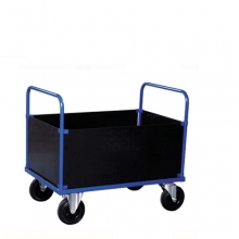 Trolley with box body high 1000x700x900mm, 500kg
