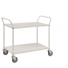 Shelf trolley 900x540 mm, 2 shelves white 250 kg.
