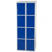 Storage locker, blue/grey 8 compartments  1920x700x550