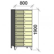 Sektsioonkapp, 20 ust, 1900x800x545 mm