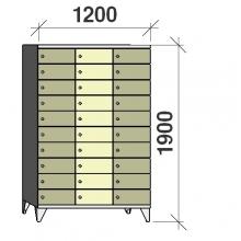 Sektsioonkapp, 30 ust, 1900x1200x545 mm