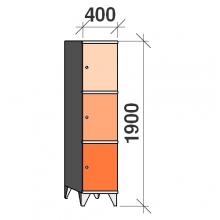 Sektsioonkapp, 3  ust 1900x400x545 mm