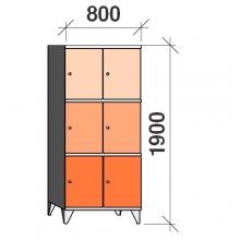 Sektsioonkapp, 6 ust, 1900x800x545 mm
