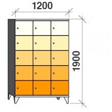 Sektsioonkapp, 15 ust, 1900x1200x545 mm