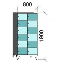 Sektsioonkapp, 12 ust 1900x800x545 mm