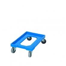 Kastikäru plastik, 604x402x162 mm, ratastega