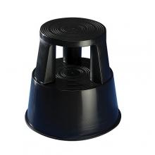 Plastic kickstool, black, Wedo