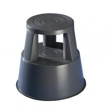 Plastic kickstool, gray, Wedo