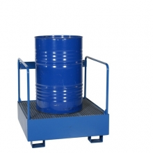 1 drum standing with safety railing 950x950x910