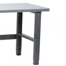 Workbench leg set(2 pcs.) RAL 7012, 725 mm