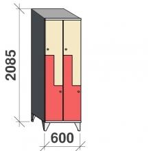 Z-kapp 2085x600x545, 4 ust, kaldkatusega