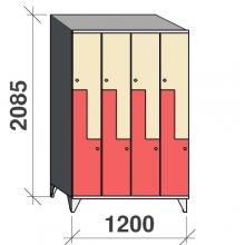 Z-kapp 2085x1200x545, 8 ust, kaldkatusega