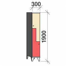 Z-locker 1900x300x545,2 doors