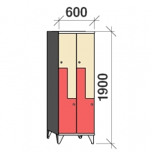 Z-locker 1900x600x545,4 doors