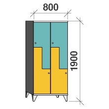 Z-locker 1900x800x545,4 doors