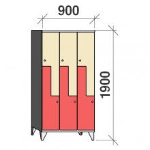 Z-kapp 1900x900x545, 6 ust