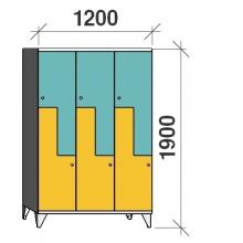 Z-kapp 1900x1200x545, 6 ust