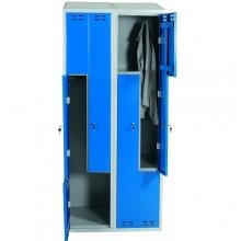 Z- metallkapp, 4 ust, 1920x800x550, sinine/hall