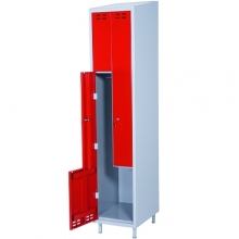 Z- metallkapp, 2 ust, 1920x400x550 punane/hall